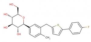 Chemische Struktur von Canagliflozin