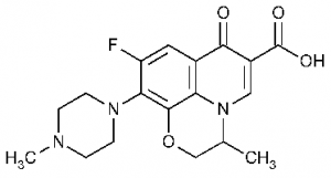 Chemical structure of ofloxacin as an example of a fluoroquinolone