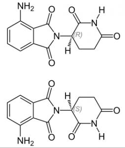 (R)- und (S)-Enantiomere von Pomalidomid